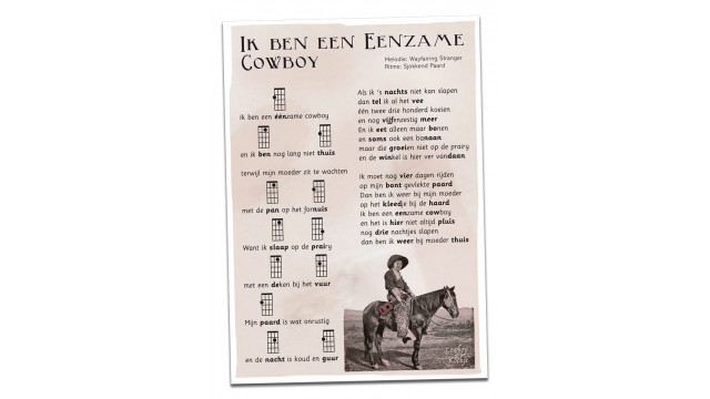 Postcard Eenzame Cowboy