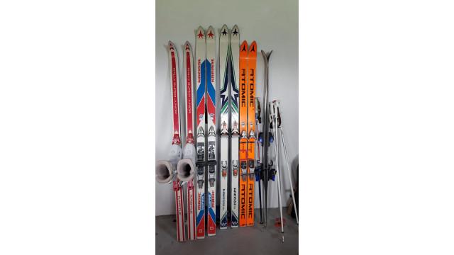 4 paar Ski's